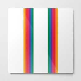 Retro Bright Rainbow - Straight Metal Print