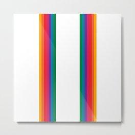 Retro Bright Rainbow - Straight Metal Print