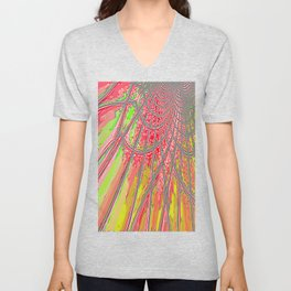 Re-Created Web of Lies6 by Robert S. Lee Unisex V-Neck