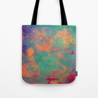 batik Tote Bags featuring batik by Camila Rodrigué