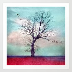 ATMOSPHERIC TREE | Longing for spring Art Print