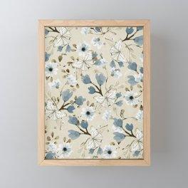 Flowers and Butterflies Framed Mini Art Print