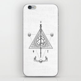Deathly Hallows (White) iPhone Skin