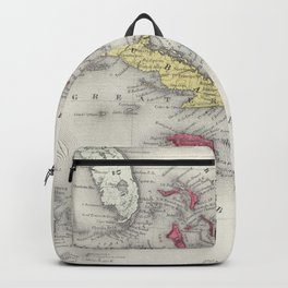 Vintage Map of The Caribbean (1865) Backpack