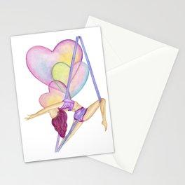 Aerial Hammock, Heart Opener, Back Bend Stationery Cards