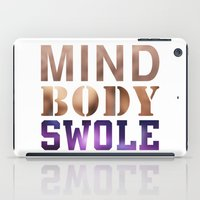 nutella iPad Cases featuring Mind, Body, & Swole by Free Specie