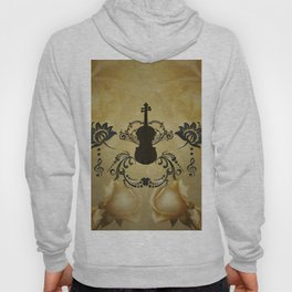 Wonderful violoin with elegant floral elements Hoody