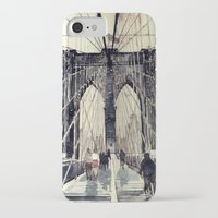 bridge iPhone & iPod Cases featuring Brooklyn Bridge by takmaj