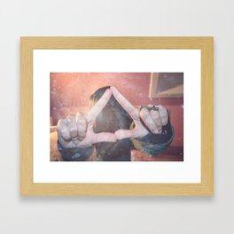 hipster triangel Framed Art Print