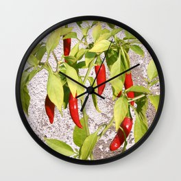 Thai Peppers Wall Clock