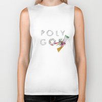 polygon Biker Tanks featuring LOW POLYGON by mountstar