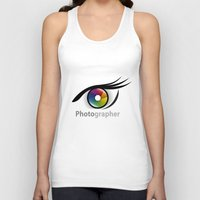 photographer Tank Tops featuring Photographer by Jatmika jati