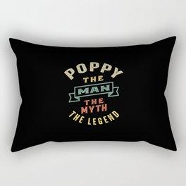 Mens Poppy The Man Myth Legend Father Gift Rectangular Pillow
