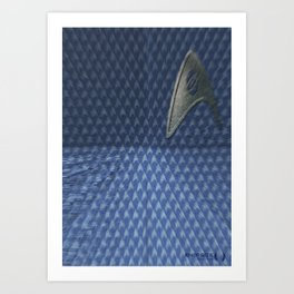 Energize - Blue Shirt Art Print