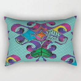 3 - Teal Rectangular Pillow