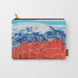 Pikes Peak Behind the Garden of the Gods Carry-All Pouch