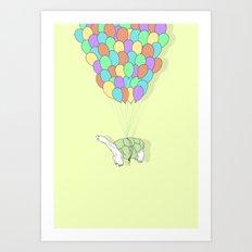 Turtle Adrift Art Print