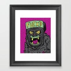 80's Hardcore Gorilla Framed Art Print