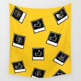 Like My Cat Pics Polaroids Pattern Wall Tapestry