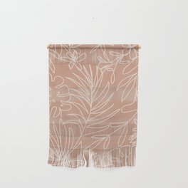 Engraved Tropical Line Wall Hanging