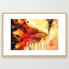 Underwater Inferno Framed Art Print