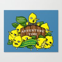 lemongrab Canvas Prints featuring Lemongrab's Acceptable Lemonade  by BlacksSideshow
