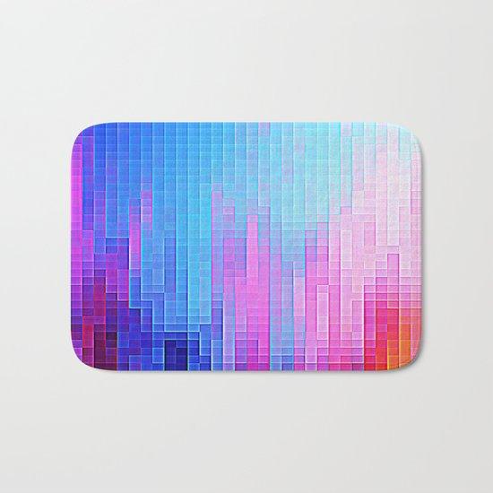 colorfuL Pixels Bath Mat