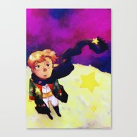 the little prince Canvas Prints featuring Little Prince by Mei Linwau