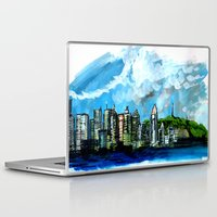montreal Laptop & iPad Skins featuring Montreal Waterscape by Gersande