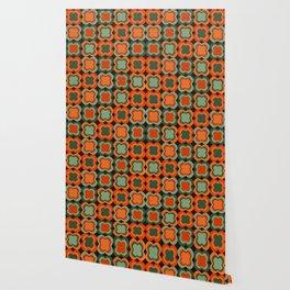 Retro Color Flower Pattern Wallpaper