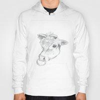 bull Hoodies featuring Bull by Kate Burton