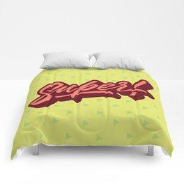 Calligraphic Lettering Super Comforters