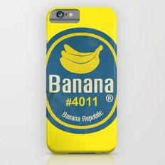 Banana Sticker On Yellow Slim Case iPhone 6