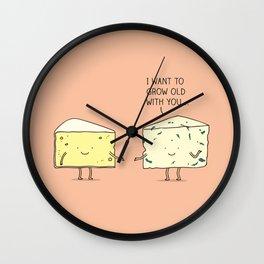 Matured cheese Wall Clock