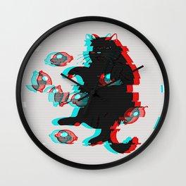 Glitch Cat Wall Clock