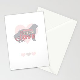 Whole Lotta Love for Newfies Stationery Cards