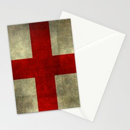 Flag of England (St. George's Cross) - Textured version to scale  Stationery Cards