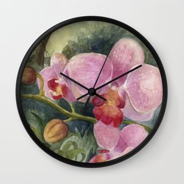 Orchid Beauty Wall Clock
