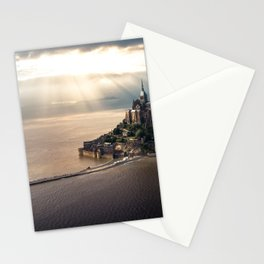 Mont Saint Michel island, Southern France Stationery Cards