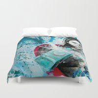 thor Duvet Covers featuring thor by Lyxy