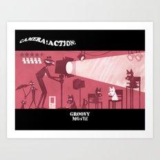 Groovy Movie Art Print