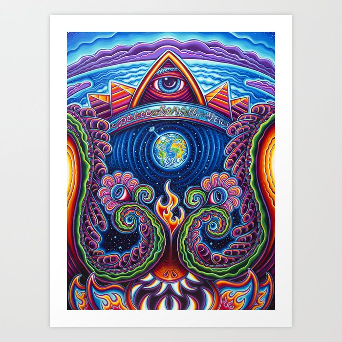 Peace Be With You Art Print