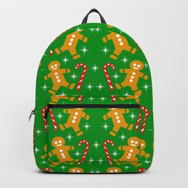 Gingerbread Men and Candy Canes Backpack