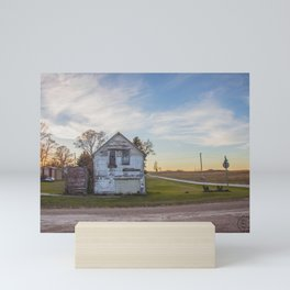 Main Street, Denhoff, North Dakota 6 Mini Art Print