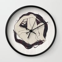 circle Wall Clocks featuring My Simple Figures: The Circle by Anton Marrast