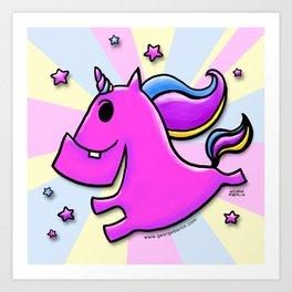 Fab-yoo-lous Unicorn! Art Print