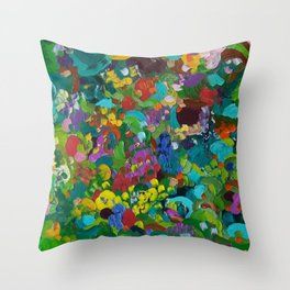 Flower Forest Throw Pillow
