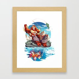 Fish are Jumping Today Framed Art Print