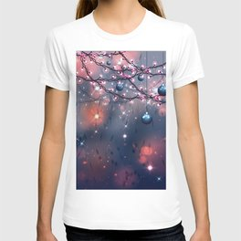 Winter abstract background with balls T-shirt