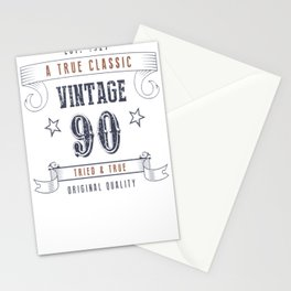 90th-Birthday---Vintage-90-Tried-&-True Stationery Cards